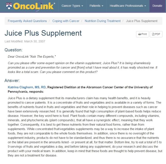 juice plus scam